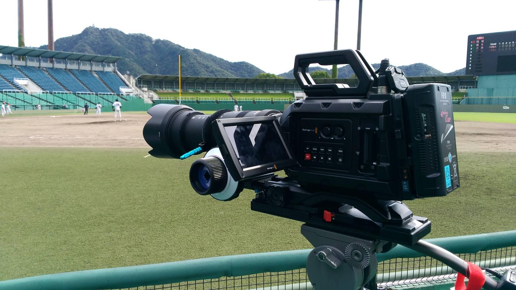 大学野球の撮影